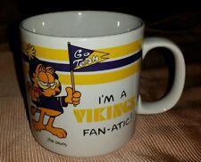 Vintage 1978 Jim Davis Garfield I'm a VIKINGS FAN-ATIC Coffee Mug