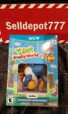 Brand New Yoshi's Woolly World + Light Blue Yarn Yoshi (Nintendo Wii U, 2016)