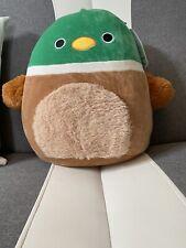 "12"" Duck Squishmallow Duck Avery the Mallard Duck USA Exclusive Fuzzy Tummy 🦆"