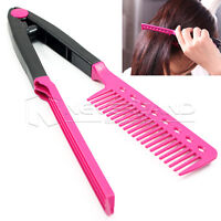 Salon V Comb DIY Hairstyling Hair Beauty Care Hair Straightener Makeup Tool