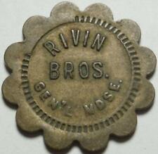 Scotland & 4 Other Towns, South Dakota Good For 5¢ Rivin Brothers Merchant Token