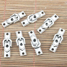 17pcs tibetan silver color buckle of belt design connector H0838