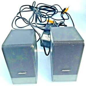 Bose Computer MusicMonitor Desktop Laptop companion Speakers-No Remote