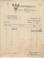 Vintage Commercial Invoice / Suau Motors / Mayaguez Puerto Rico / 1951