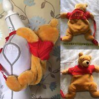 DisneyLand Paris Official Winnie The Pooh Plush Character Bag Backpack Disney