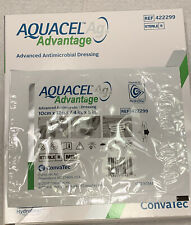 "CONVATEC 422299 AQUACEL AG Advantage 4""x5"" Antimicrobial DRESSING, Pack of 5"