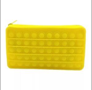 Pop it Fidget Sensory Bubble Pencil Case Toy School Stress Relief Bag Gift Kids