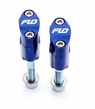 "Flo  BLUE  Rubber Mount Fat 1 1/8"" 28.5mm Oversize Handlebar Clamp Bar Mounts"