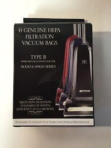 6 Riccar Hepa Vacuum Bags Type B For Series 8000 & 8900 New In Box
