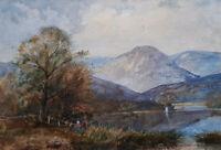 CONISTON 19TH CENT VICTORIAN WATERCOLOUR PAINTING CUMBRIA LAKE DISTRICT c. 1860