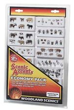 WOODLAND SCENICS HO SCALE - ASSORTED FARM SET - ECONOMY PACK- 2051