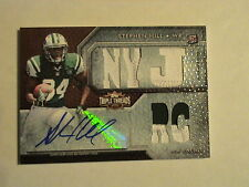 2012 Topps Triple Threads Stephen Hill NY Jets 2 Color Rookie Patch Auto 1/1
