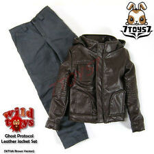 Wild Toys 1/6 Ghost Protocol_Brown Jacket Set w/ Grey pants _Leather-like WT019A