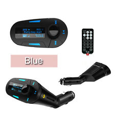 Car Mp3 Player Usb Port Charger For Mobile Phone Fm Transmitter Usb Sd Slot Blue