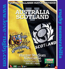 S - Australia v Scotland 2012 Rugby Programme - Hunters Stadium Newcastle a