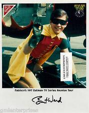 Burt Ward Hand SIGNED/AUTOGRAPH COLOR 8X10 PHOTO RARE BATMAN/ROBIN FROM 1997 HTF