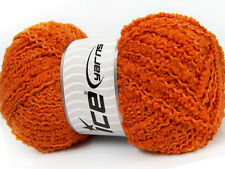 Lot of 4 x 100gr Skeins Ice Yarns WOOL TWISTER (20% Wool) Wool Orange