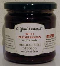 ORIGINAL Lechner DE TYROL DU SUD Wild Airelles confiture 75% Fruits
