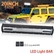 20INCH 7D 540W CREE LED Light Bar Dual Row Combo Beam Work Driving Offroad 4WD Y