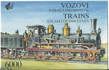 Yugoslavia  1992 year booklet  trains steam locomotives