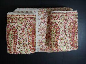 Pottery Barn Liviah Reversible Print King Quilt 2 Euro Laundered Display Model