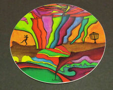 "New-4"" Disc Golf Art Sticker-Very High Quality. Water + Fade Proof"