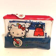 "Rare Vintage Hello Kitty Sanrio See through Zipper Pouch 1976 ""Neat and Clean"""