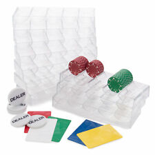 Poker Room Pack - 5 Bridge Size Cut Cards, 5 Dealer Buttons, & 10 Chip Trays