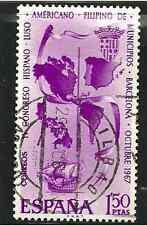 La SPAGNA emissione POSTALE-FRANCOBOLLO USATO - 4th Hispano CONGRESSO DELL'AMERICA LATINA - 1967