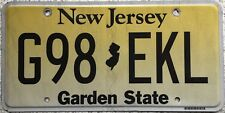 GENUINE American New Jersey Yellow Fade USA License Licence Number Plate G98 EKL