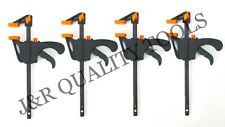 4pc Woodworking Bar Clamp Furniture Wood Handwork Tool F-clamp 4in Quick Wood