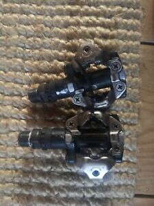 Shimano PD-M520 SPD MTB Pedals Clipless pair clip in clipped commuter touring