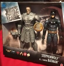 DC Justice League Batman vs Steppenwolf Action Figure 12 Inch. Exclusive New