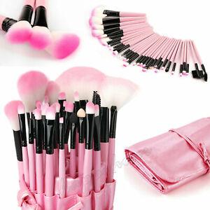 32Pcs Make up Brushes Set Cosmetic Tool Face Powder Kabuki Kit Luxury Bag Pink