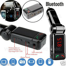 Wireless Bluetooth car kit MP3 FM Transmitter Handsfree CAR CHAGER For iPhone