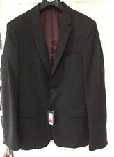 BNWTS Mens Blazer Jacket Chest 42 Length Long Dark Grey Marks & Spencer Slim Fit
