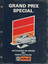 1981 MOTO-SKI SNOWMOBILE GRAND PRIX SPECIAL PARTS MANUAL P/N 480 1142 00 (841)