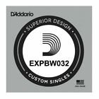 D'Addario EXPBW032 80/20 Bronze Acoustic String, .032 gauge, Single String for sale