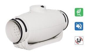 S&P Schallgedämmter Rohrventilator Lüfter TD 250/100 SILENT - Sehr Leise - 24 dB