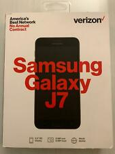 "Verizon Samsung Galaxy J7 PrePaid 2nd Gen.16 GB 5.5"" Display 13 MP Black NEW"