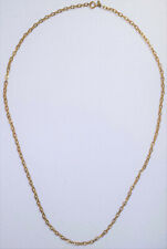 "Vintage AVON Textured Gold Tone 33"" Chain Necklace Costume Jewelry"