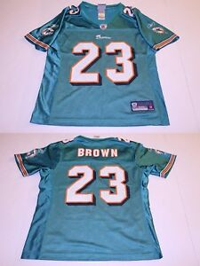 Women's Miami Dolphins Ronnie Brown S Jersey (Turquoise) Reebok Jersey