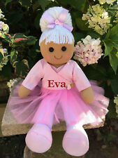 PERSONALISED RAG DOLL BALLERINA BIRTHDAY FLOWER GIRL NEW BIG SISTER BABY GIFT