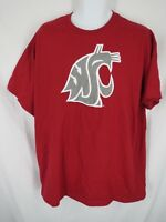 New Washington State Cougars Mens Size XL XLarge Red Short Sleeve Shirt