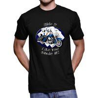 Harley Davidson Road King Ride It Men`s Dark T-Shirt