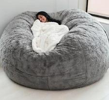 Microsuede 7ft foam giant bean bag memory living room chair lazy sofa cover