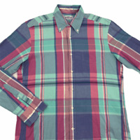 GANT Rugger Mens Multicolor Plaid Collared Long Sleeve Button Down Shirt Medium