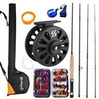 Sougayialng Fly Fishing Rod Set Fly Rod and Fly Reel with Fishing Bag Line Combo