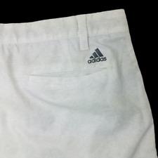 Adidas Ultimate 365 Mens 36 White Stripe Performance Golf Shorts 939011