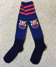 FC Barcelona Soccer Socks Dark Blue Fit Children To Adult Brand New.